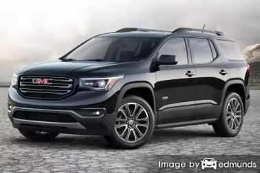 Insurance rates GMC Acadia in Denver