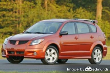 Insurance rates Pontiac Vibe in Denver